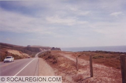 Highway 1 north of Pescadero. The shoulder here is pretty typical of the whole Peninsula section.