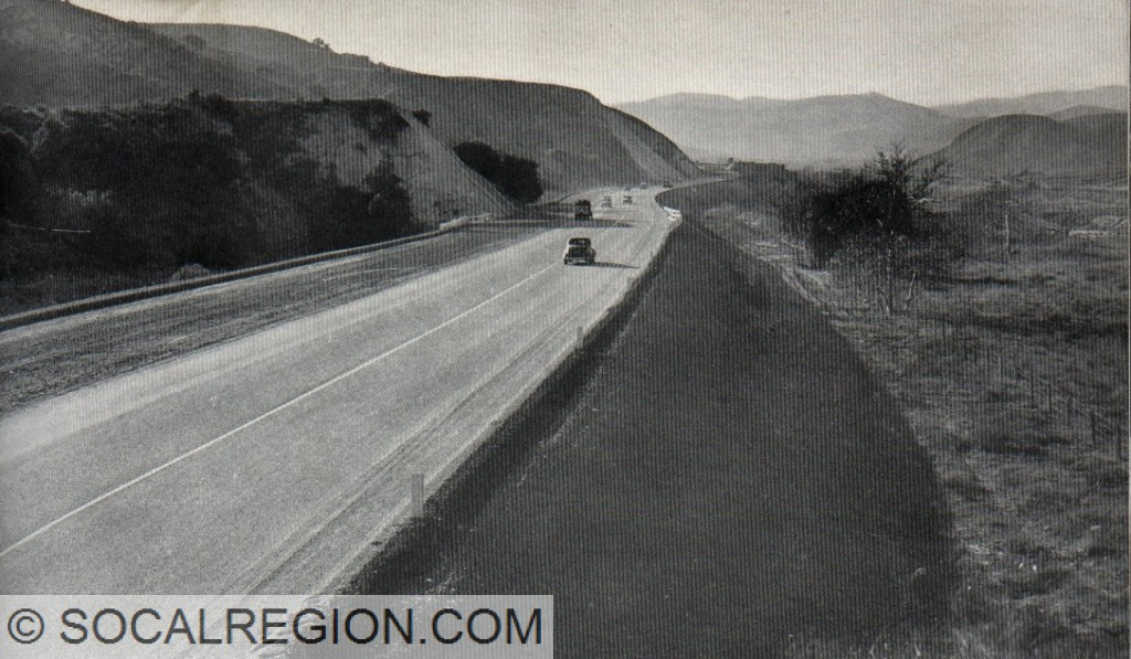 Near Prado Dam in 1940. This is now south of the present freeway just west of Serfas Club Dr. Looking west.