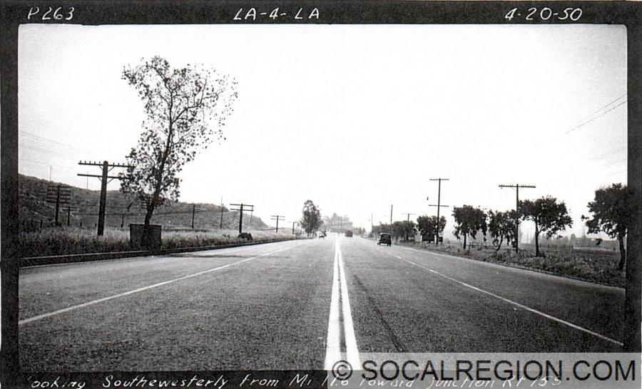 Looking south toward Sepulveda Junction in 1950.