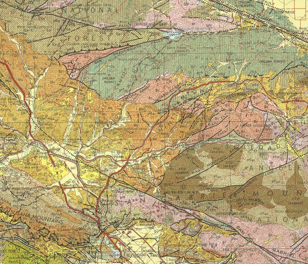 Geological map of the Santa Clarita area. Portion of the Los Angeles Sheet - 1969 - California Geological Survey